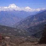 Vy över berget Dhaulagiri I, 8 167 möh.
