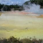 Geotermiskt område. Wai-o-Tapu