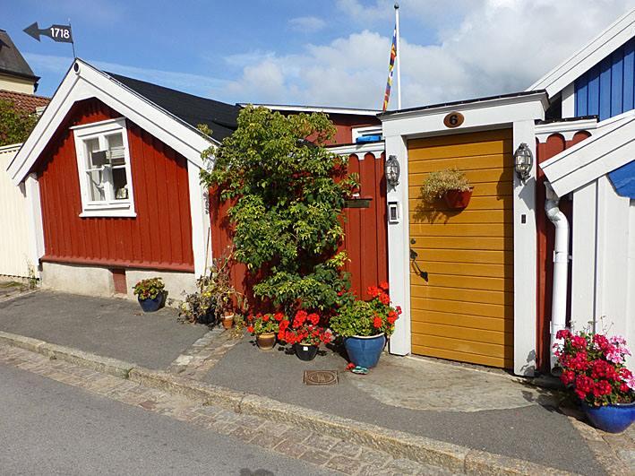 Trähusen. Karlskrona. Sverige