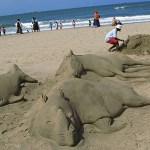 Sandskulpturer. Durban