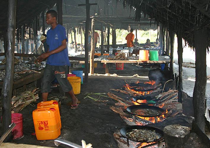 Fiskrestauranger. Bagamoyo