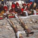 Saga Dawa festivalen. Tarboche. Tibet