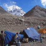 Vårt tältläger nästan 5 000 möh. Drira Phuk. Kailash