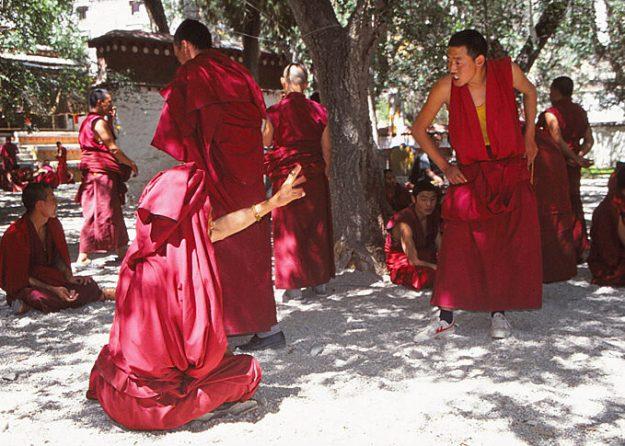Debatterande munkar. Seraklostret