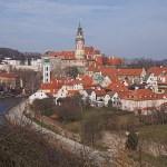 Vy över staden. Cesky Krumlov / Krummau (U)