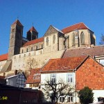 kyrkan St Servatius. Quedlingburg. Tyskland (U)