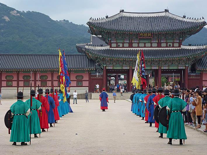 Palatset Gyeongbokgung. Seoul