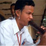 Flöjtspelare. Phnom Penh