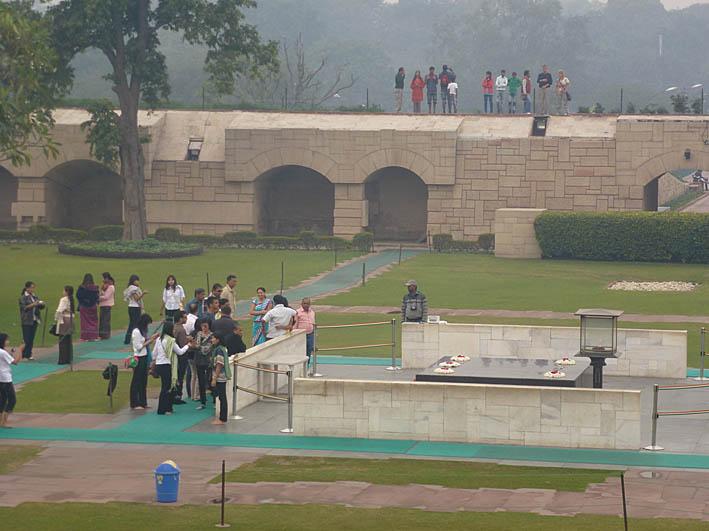 Mahatma Ghandis monument. New Delhi