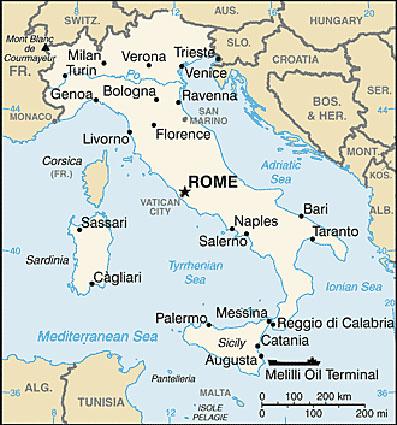 Italien Landsfakta Folkmangd Folkgrupper Bnp Flagga Mm