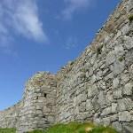 Del av försvarsmuren. Peel