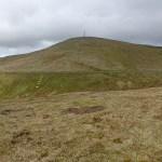 Vy över Snaefell, Isle of Mans högsta berg