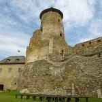 Gotiska tornet byggt på 1300-talet. Lubovna Hrad