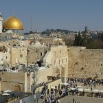Vy över Klagomuren. Jerusalem