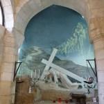 Här föll Jesus första gången på sin vandring till Golgata. Jerusalem