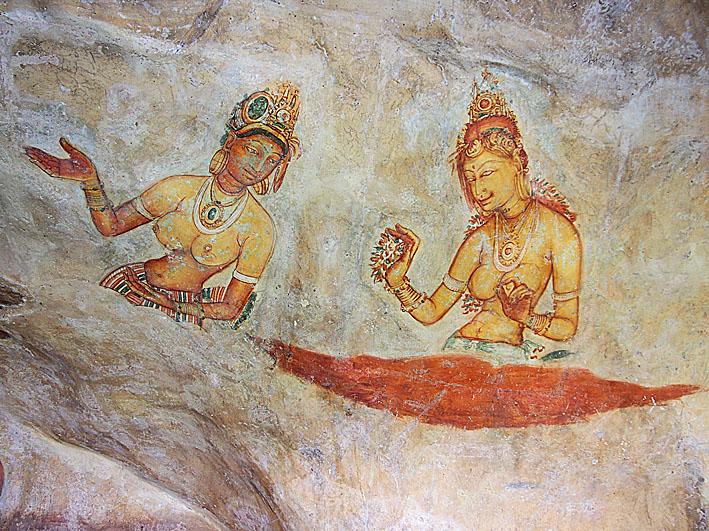 Fresk från 400-talet. Sigiriya (U)