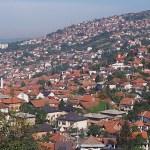 Vy över Sarajevo