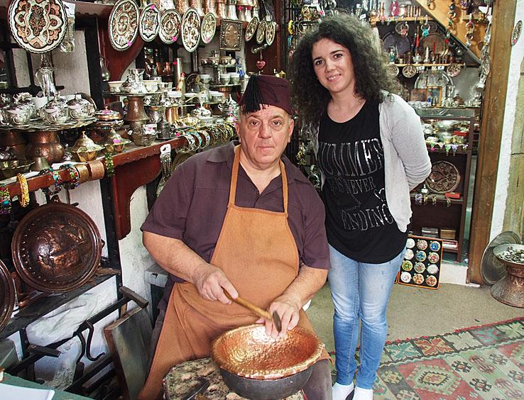 Hantverkaren och hans dotter. Sarajevo