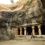Grottemplen på Elephanta Island. Indien (U)