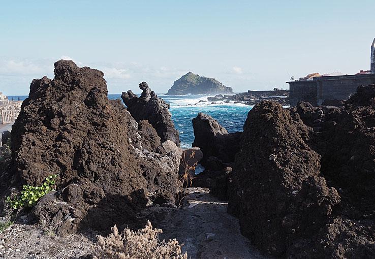 Lava från vulkanutbrottet år 1706. Garachico