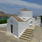 Ortodox kyrka. Lindos