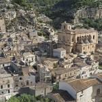 Vy över staden Scicli