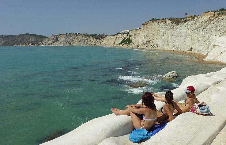 På vackra stränder. Sicilien