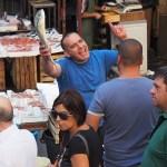 Ett intressant folkliv. Fiskmarknaden. Catania