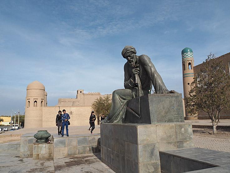 Al-Khorezmiy monumentet. Khiva