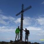 Staffan och Bengt på toppen av berget Cimon del Tò, 2 400 möh. Cavalese
