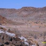 Namibiskt landskap. Twyfelfontein