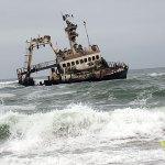 Skeppsvrak på Skelettkusten