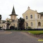 Fd järnvägsstationen är nu lyxhotell. Swakopmund