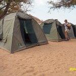 Vårt tältläger nära Twyfelfontein