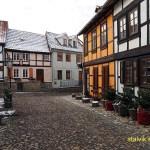 Korsvirkeshus på Muenzenberg. Quedlinburg