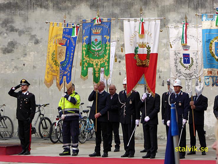 Hedrande av frigörelsen från Tyskarna. Lucca