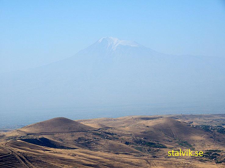 Landskapsvy med berget Ararat