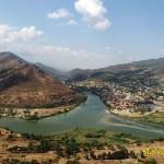 Vy över staden Mtscheta