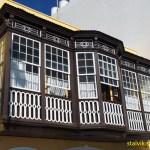 Gammalt hus på Avenida Maritima. Santa Cruz