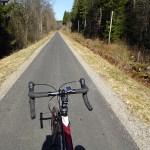 Cykla Ätradalsleden. Falköping - Falkenberg. Drygt 40 km asfalterad banvall mellan Ulricehamn och Ambjörnarp