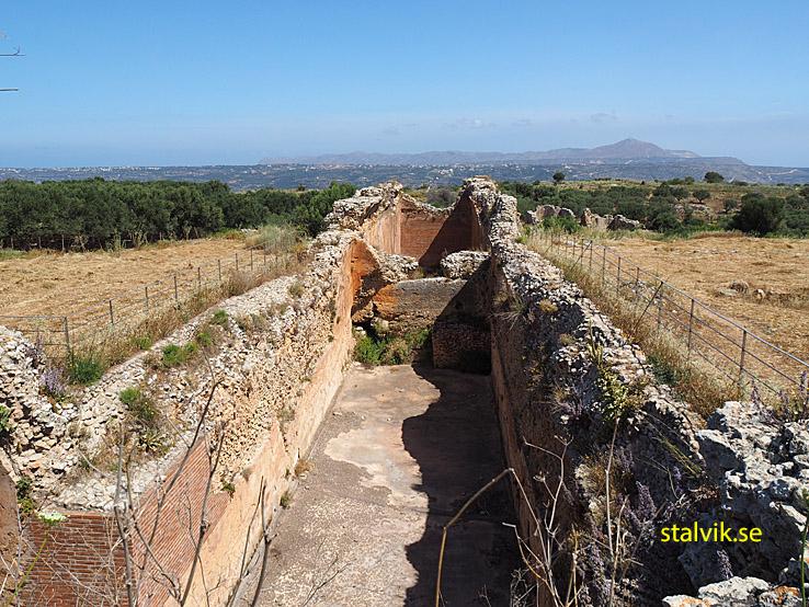 Den romerska vattenbassängen. Aptera