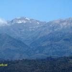 I maj ligger snön kvar på bergen!