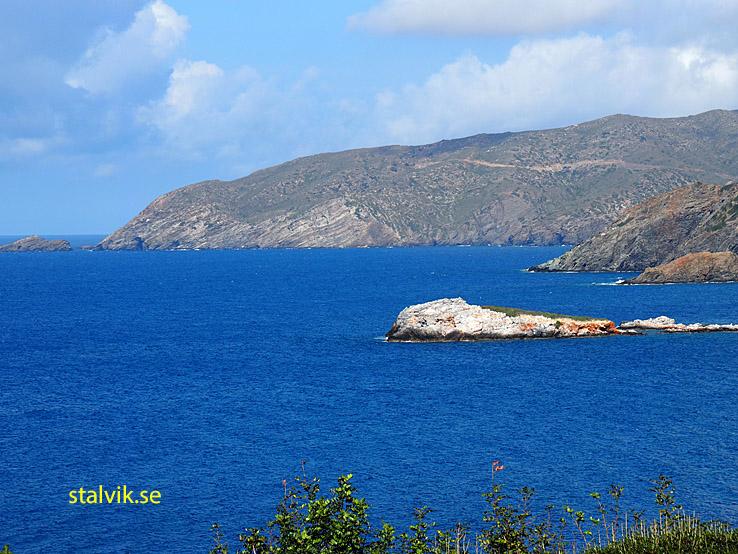 På Kreta är man nästan alltid nära havet!