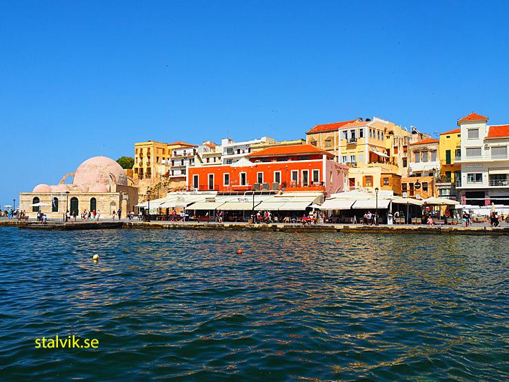 Venetianska hamnen och Kastelli. Chania