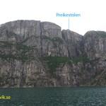 Preikestolen från Lysefjorden