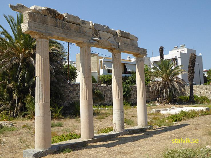 Västra arkeologiska utgrävningsområdet. Kos stad