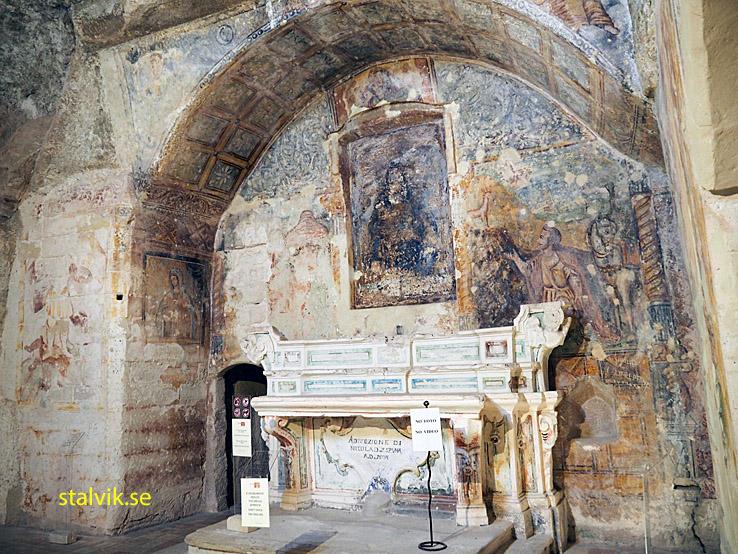Grottkyrkan Santa Maria de Idris. Matera (U)