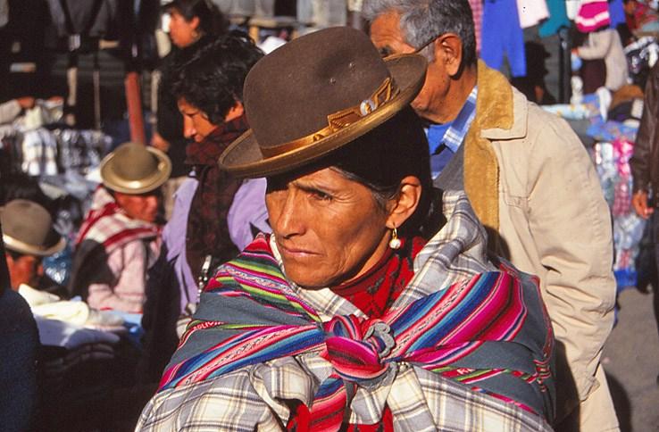 Indiankvinna. La Paz