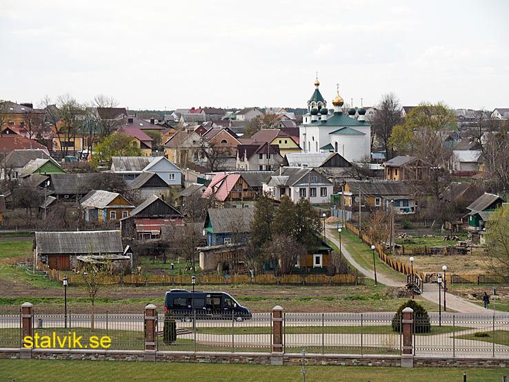 Vy över staden Mir