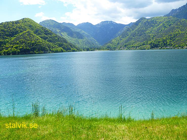 Cykling vid Gardasjön. Nago - Pregasina - Lerdodalen - Arco. Lerdosjön